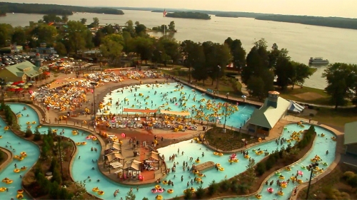 Nashville Shores - Wave pool  lake wideshot