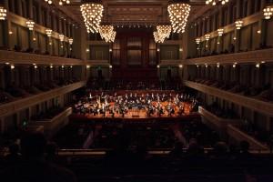 The Nashville Symphony performing at the Schermerhorn Symphony Center.